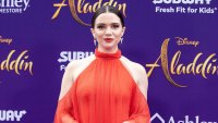 Katie Stevens Orange Dress Aladdin Breast Cancer Scare