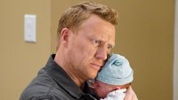 Kevin McKidd Holding Baby Grey's Anatomy Season 16 Premiere