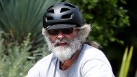 Kurt Russell Nearly Unrecognizable LA Bike Ride