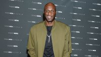 Lamar Odom Green Jacket Rob Kardashian and Kourtney Kardashian Good With His Kids