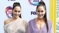 Nikki Bella and Brie Bella at Teen Choice Awards Favorite Year Round BB Cream