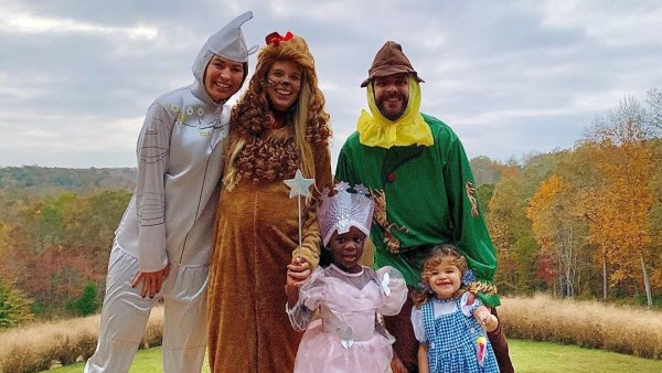Cutest Halloween Costumes Thomas Rhett and Lauren Akin With Kids Willa and Ada