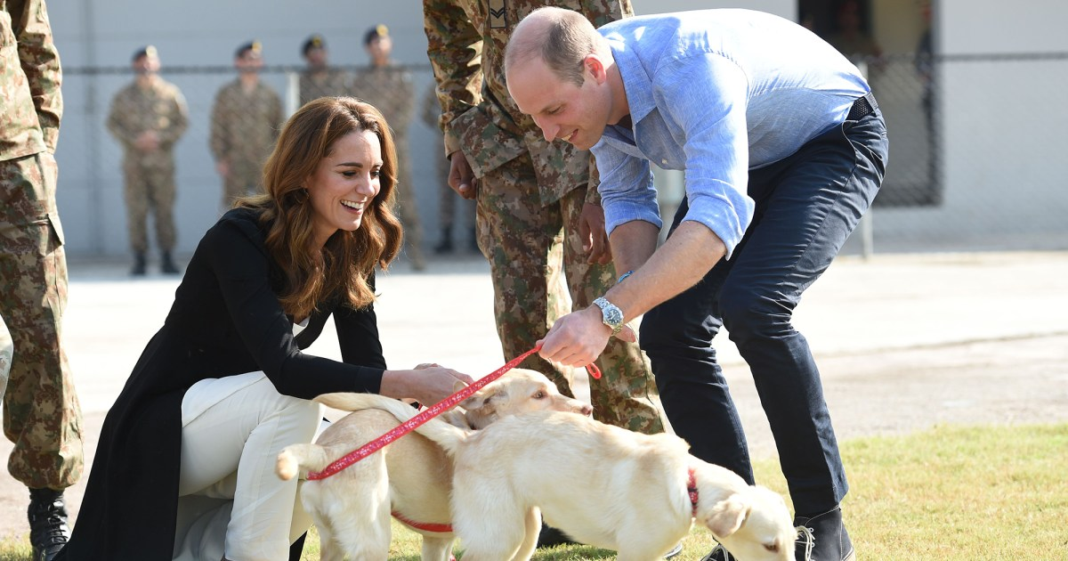 Duchess Kate and Prince William Play With Pups on Last Day of Pakistan Tour: Pics