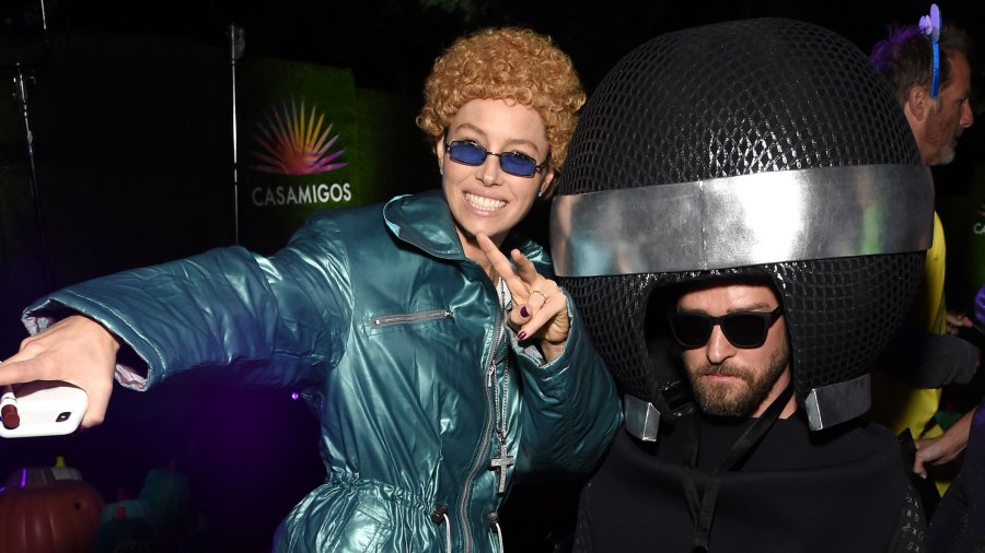 Jessica Biel's Dressed Up as 'NSync Era Justin Timberlake for Halloween