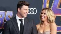 Scarlett Johansson Talks Colin Jost's 'Romantic' Proposal