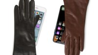 Cashmere Lined Leather Touchscreen Gloves featured