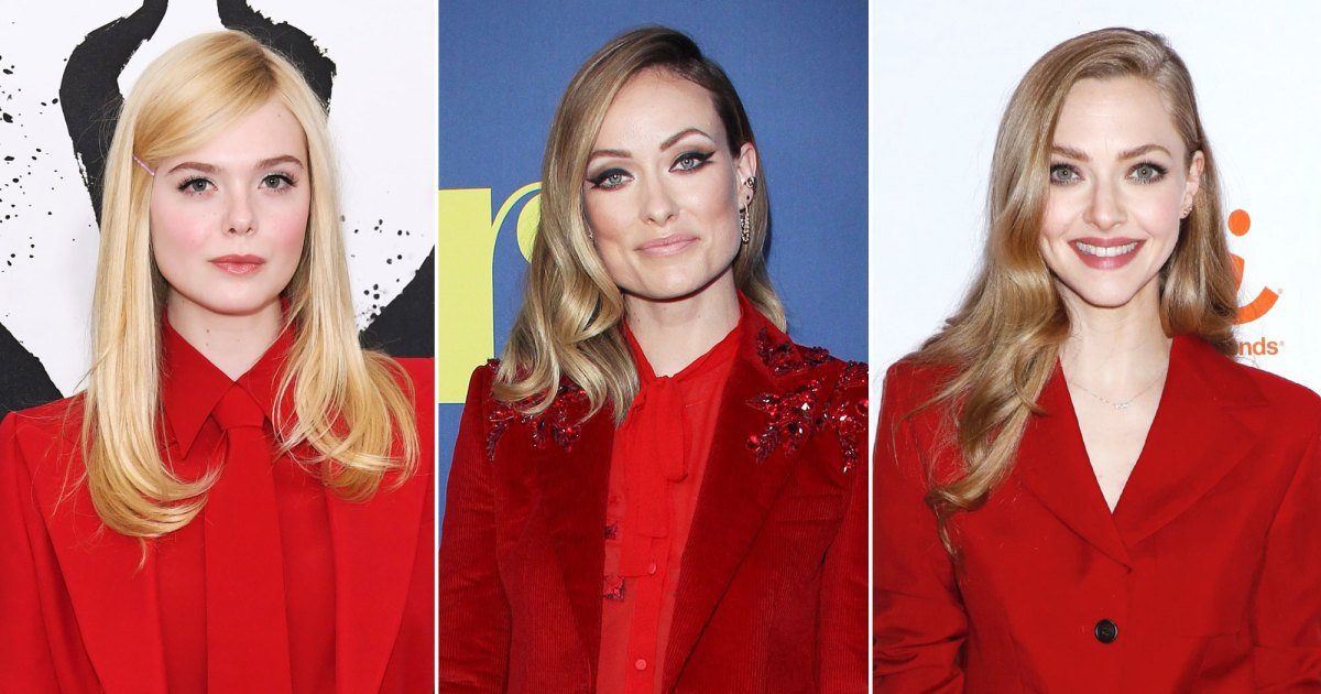 Red Hot! Hollywood A-listers Make a Statement in Scarlet Pantsuits
