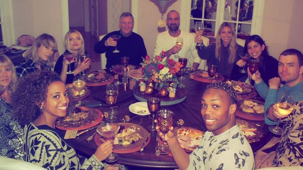 Rob Lowe, Aziz Ansari, Emma Roberts, Taylor Swift Celebrity Friendsgivings Thanksgiving
