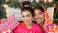 Jared Haibon Ashley Iaconetti Are Loving Dunkin New Holiday Merch