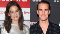 Katie Holmes Comments on Former 'Dawson's Creek' Costar James Van Der Beek's Post Before His 'DWTS' Elimination