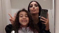 Kim Kardashian North West Mother-Daughter Selfie