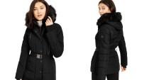 MICHAEL Michael Kors Active Belted Faux-Fur-Trim Puffer Coat