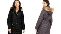 MICHAEL Michael Kors Faux-Fur-Trim Hooded Down Puffer Coat, Created For Macy's (Black)