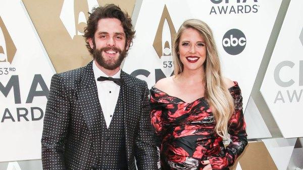 Thomas Rhett, Lauren Akins, Willa Gray Akins and Ada James Akins 2019 CMA Awards Arrival Red Carpet Children