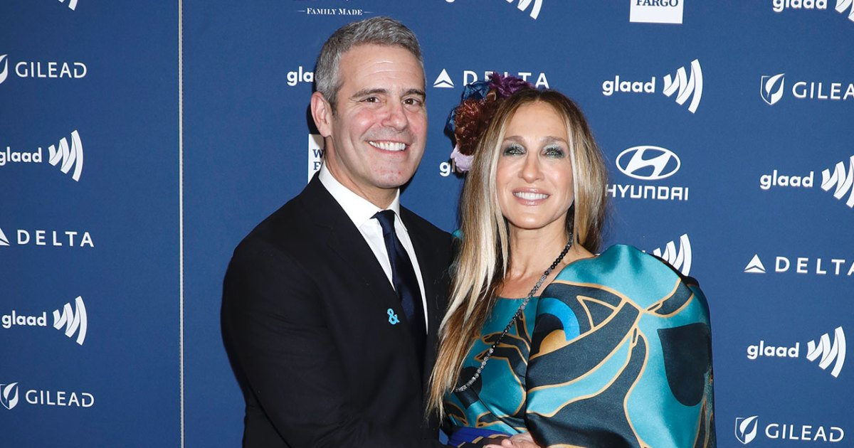 "Andy Cohen and Sarah Jessica Parker 30th Annual GLAAD Media Awards - سارة جيسيكا باركر تشارك أندي كوهين ""SATC"" إرتدادات"