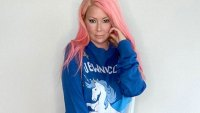 Jenna Jameson Says She's Going Back on Keto Diet Blue Sweater Hanukkah