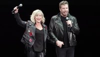 John Travolta and Olivia Newton-John Reprise 'Grease' Roles in Full-On Costumes