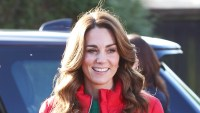 Kate Middleton Red Puffer Coat December 4, 2019