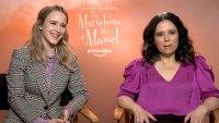 Rachel Brosnahan and Alex Borstein Marvelous Mrs. Maisel Cast Us Interview