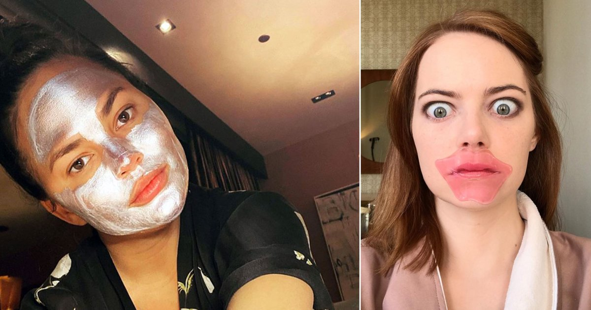 It's Impossible Not to Giggle at Stars in Beauty Masks