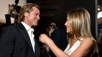Brad Pitt and Jennifer Aniston Backstage SAG Awards 2020