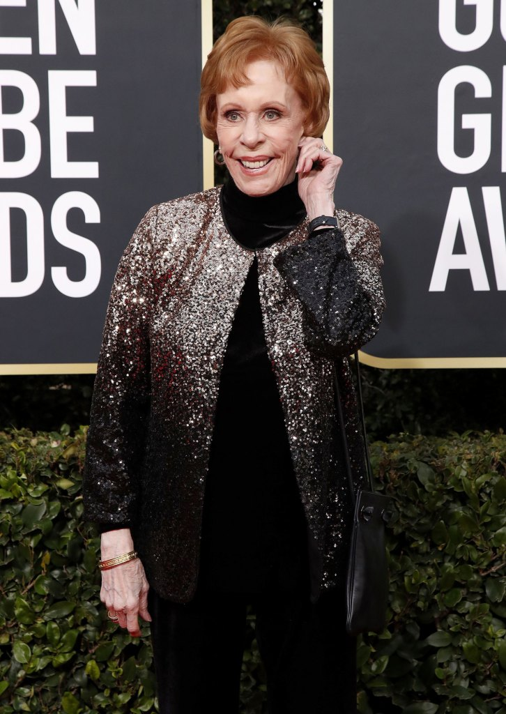 Golden Globes 2020 Ellen Degeneres Receives Carol Burnett