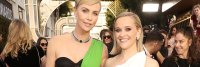 Charlize Theron and Reese Witherspoon at Golden Globes 2020