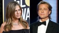 Jennifer Aniston Cheers on Ex-Husband Brad Pitt During 2020 Golden Globes Speech