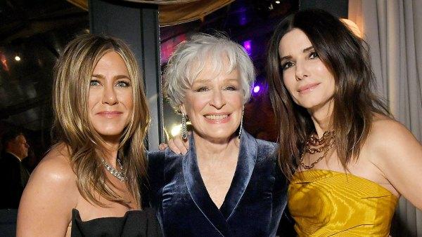 Sandra Bullock Jennifer Aniston and Glenn Close Golden Globes 2020 After Parties