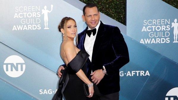 Jennifer Lopez and Alex Rodriguez Shine SAG Awards 2020