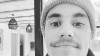Justin Bieber Posts Mustache