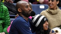 Kobe Bryant and Daughter Gianna NCAA Basketball Game