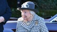 Queen Elizabeth Houndstooth Coat January 19, 2020