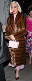 Katy Perry Fur Coat February 14, 2020