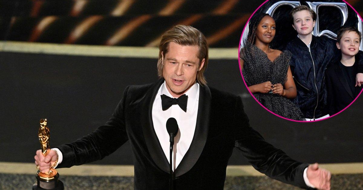 Brad Pitt Dedicates His Oscar to His Kids During Emotional Speech