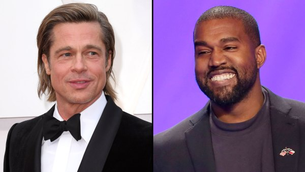 Brad Pitt and Kanye West Catch Up at Oscars Party Oscars 2020