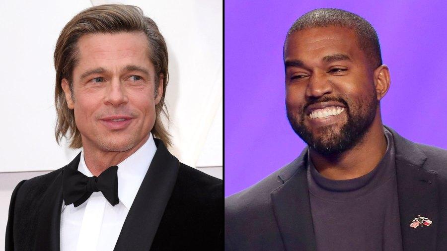 Brad Pitt and Kanye West Catch Up at Oscars Party Oscars 2020