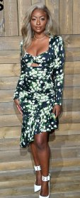 Celebs at New York Fashion Week - Justine Skye