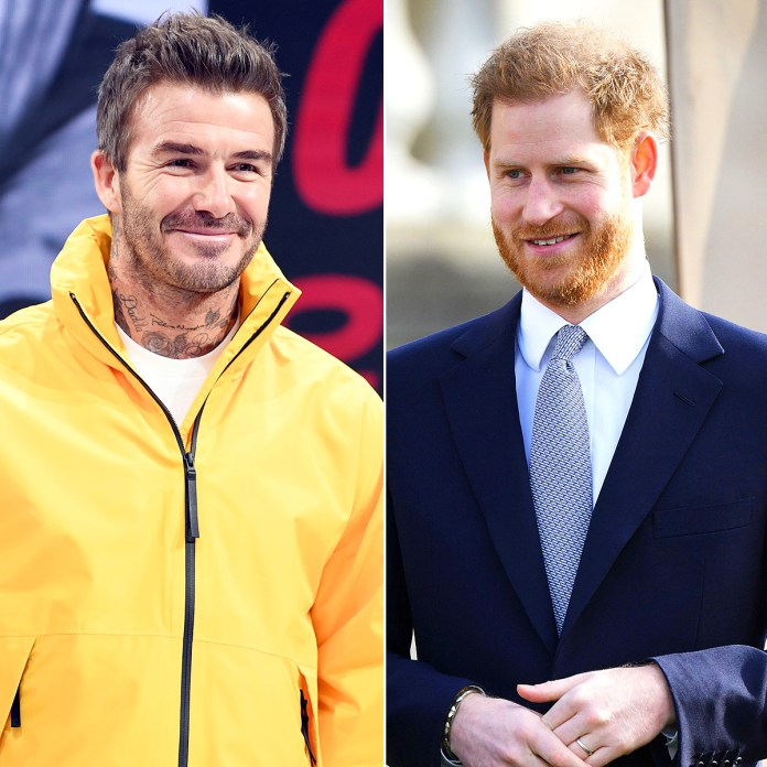 Resultado de imagen de David Beckham Shares His Support For Prince Harry During Royal Transition
