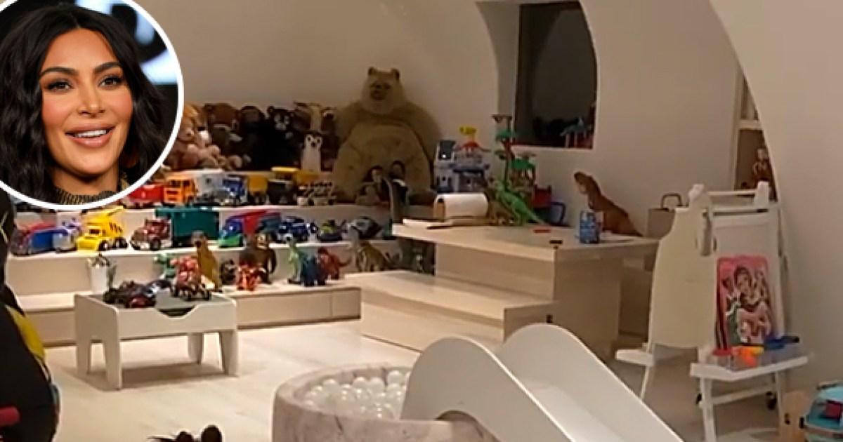 Inside Kim Kardashian's Kids' Epic Playroom: Ball Pit, Drum Set and More