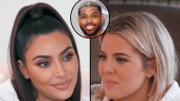 Kim Kardashian Tells Khloé Kardashian She Was Standing and Cheering for Tristan Thompson During His Game