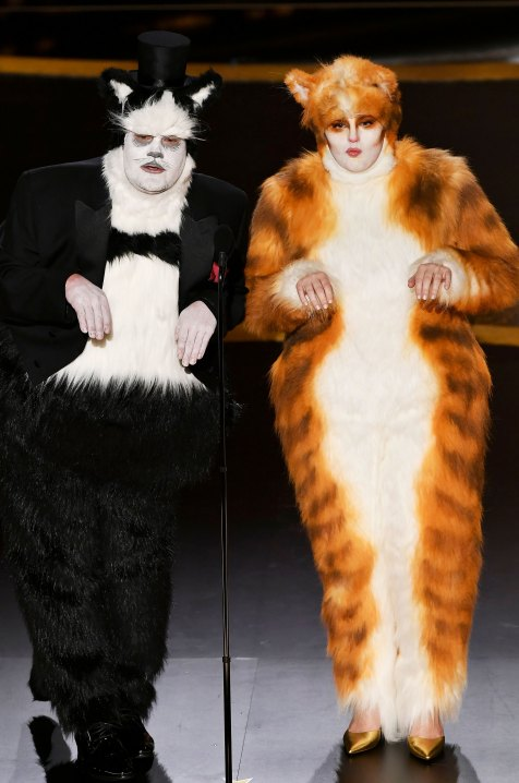 Image result for rebel wilson james corden cats oscars 2020