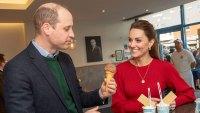 Prince William and Catherine Duchess of Cambridge Kate Middleton Eat Ice Cream