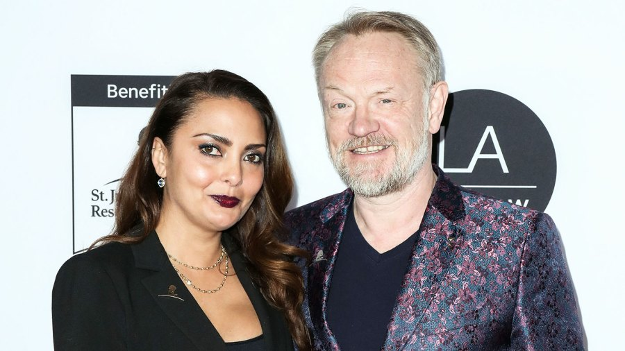 Allegra Riggio and Jared Harris attend the Los Angeles Art Show Opening Night Gala The Crowns Jared Harris Confirms Show Never Planned to Cover Prince Harry and Meghan Markle
