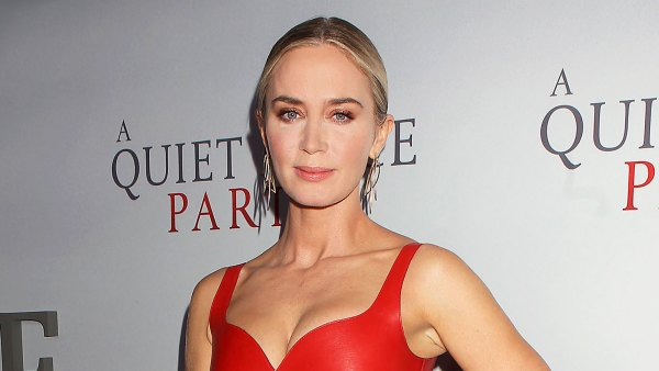 Emily Blunt Red Leather Dress March 8, 2020