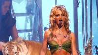 Britney Spears and Doc Antle Tiger King 2001 MTV Video Music Awards Snake