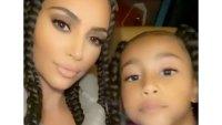 Kim Kardashian and North West Mother-Daughter Twinning
