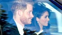 Queen Elizabeth II Attends Church Service With Prince Harry and Meghan Markle