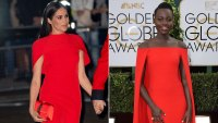 Who Wore It Best? Meghan Markle vs Lupita Nyong'o in Red Cape Dresses