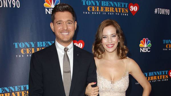 Michael Buble and Luisana Lopilato 6-year-old son Noah stole the show